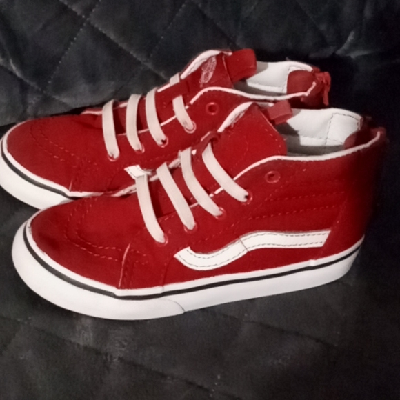 Vans Shoes | Toddler Boys Red Canvas